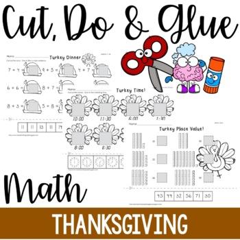 Cut, Do & Glue- Thanksgiving Math