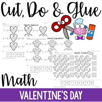 Cut, Do & Glue- Valentine's Day Math