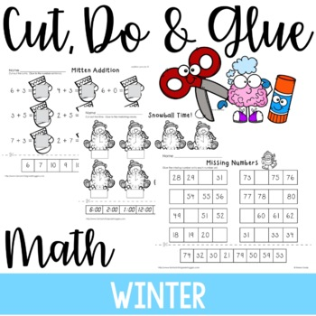 Cut, Do & Glue- Winter Math