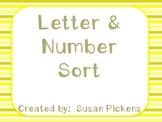 Cut & Glue Letter and Number Sort