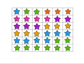 Cut & Glue Number Stars FREEBIE