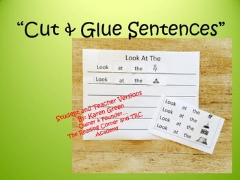 Cut & Glue Sentences