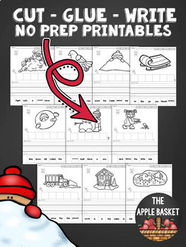 Cut, Glue, and Write No Prep Printables BUNDLE