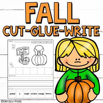 Cut, Glue, and Write No Prep Printables for First Graders