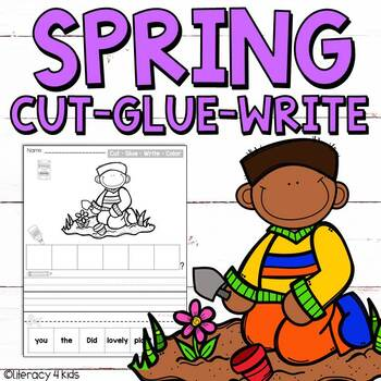 Cut, Glue, and Write No Prep Printables for First Graders (Spring Themed)