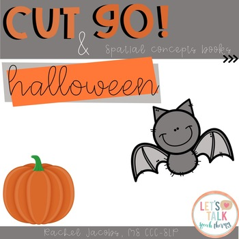 Cut & Go--Halloween Spatial Concept Books for Speech Therapy