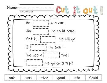 Cut It Out! Literacy Center for HMH National Journeys 2017 Kindergarten, Unit 5
