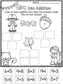 Cut It, Sort It, Glue It FREEBIE: Fall Math