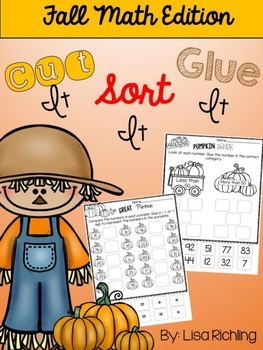 Cut It, Sort It, Glue It FREEBIE: Fall Math