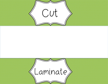 Cut, Laminate, Hand Out Labels for Sterilite Drawers