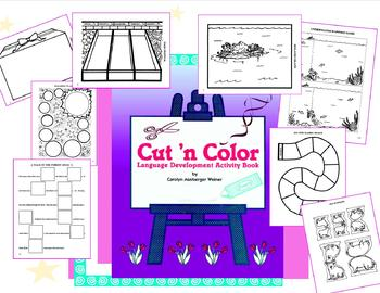 Cut 'N Color Language Development Activity Book