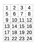 Cut N Paste Numbers 1-24