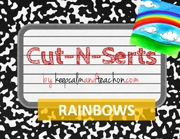 Cut-N-Serts: Rainbows / Roy G. Biv (Interactive Science Journal Inserts/Pages)