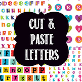 Cut Out Alphabets in Black and White and Colour