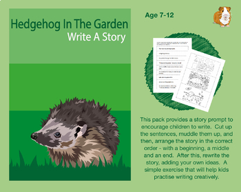 Cut Out And Write A Story Called 'Hedgehog In The Garden'' (7-11 years)