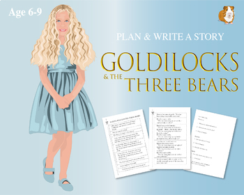 Cut Out And Write The Story Of Goldilocks And The Three Bears (6-9 years)