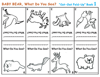 Cut-Out Fold-Up Book: BABY BEAR, BABY BEAR, What Do You See?