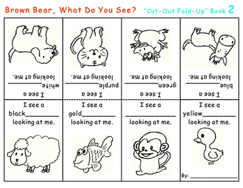 Cut-Out Fold-Up Book: Brown Bear, What Do You See?