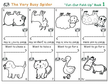 Cut-Out Fold-Up Book: The Very Busy Spider