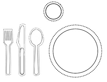 Cut Out Place Setting