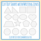 Cut Out Shapes with Writing Lines Graphic Organizer Clip Art Commercial Use