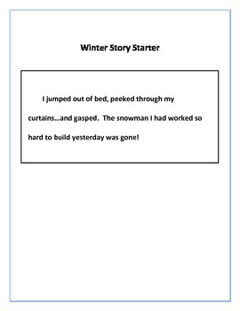 Cut-Out Snowman: Winter Art Activity