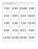 Cut Out Time Bingo