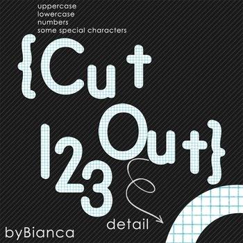 Cut Out {alphabet} - commercial use