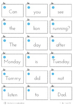 Cut Out and Create Sentences
