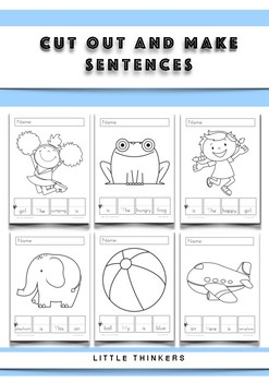 Cut Out and Make Sentences - Activity Pages