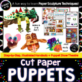 Cut Paper Puppets!  Paper Sculpture Art: Creating Forms with Texture