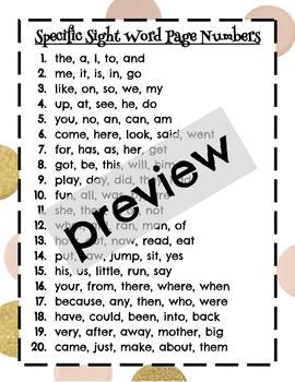 Cut & Paste 100 Sight Words Bundle