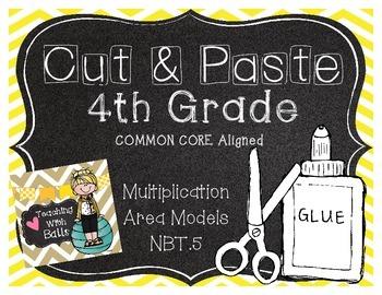 Cut & Paste 4.NBT.5 4th Grade