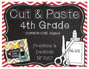 Cut & Paste 4th Grade NF.5,6,7