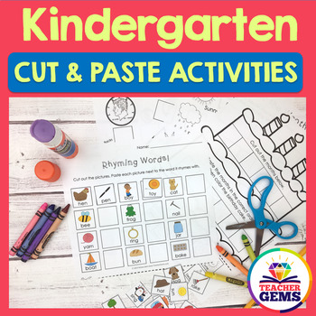 Kindergarten Cut and Paste Activities