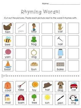 Kindergarten Cut and Paste Activities by Teacher Gems   TpT