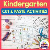 Kindergarten Cut and Paste Activities