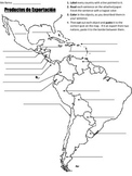 Cut & Paste Activity on Exports from Spanish-speaking Country