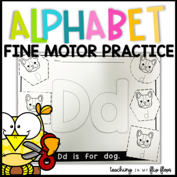 Cut & Paste Alphabet Fine Motor Practice Worksheets
