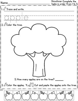 Cut & Paste and More! ~ Activity Sheets