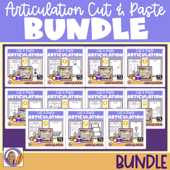 Articulation Bundle! Cut & Paste packets for speech and language therapy