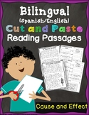 Cut & Paste Bilingual Reading Strategies Practice {Cause &