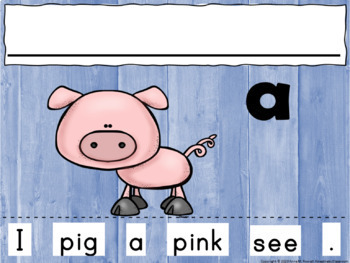 Sight Word Sentence Cut & Paste Worksheets: Pre-Primer