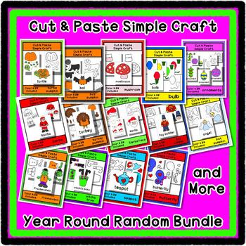Cut & Paste Craft Bundle - Super Easy perfect for Pre-K and Kindergarten
