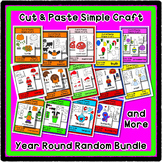 Cut & Paste Craft Bundle - Super Easy perfect for Pre-K an