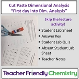 Chemistry Activity: Introduction to Dimensional Analysis C