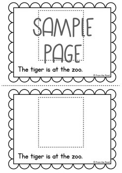 Cut & Paste Emergent Reader {At the Zoo}