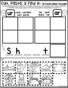 R-Controlled Vowel Sounds OR UR IR ER AR Sorts