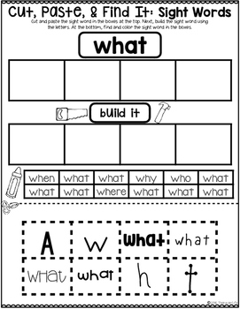 Sight Word Sorts {1st 100 Fry Words}