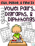 Vowel Pairs Digraphs and Diphthongs Sorts